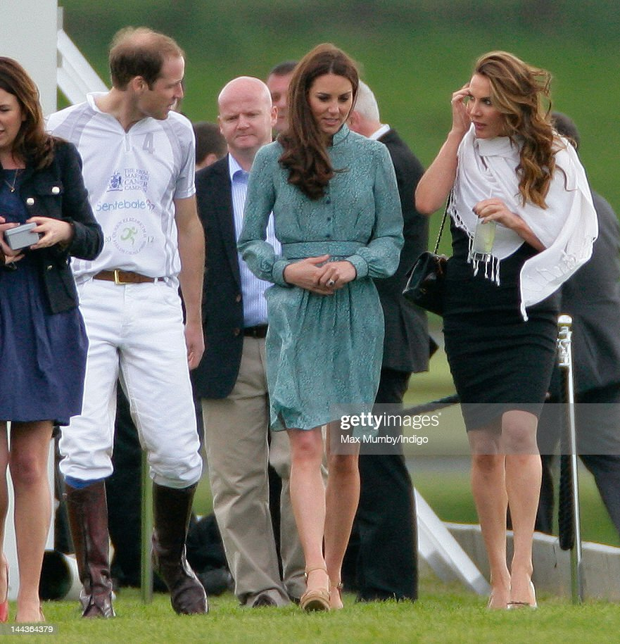 Prince William, Duke of Cambridge, Catherine, Duchess of Cambridge and Tonya Meli attend the Audi Polo Challenge charity polo match, in which Prince William, Duke of Cambridge and Prince Harry competed, at Coworth Park Polo Club on May 13, 2012 in Ascot, England.