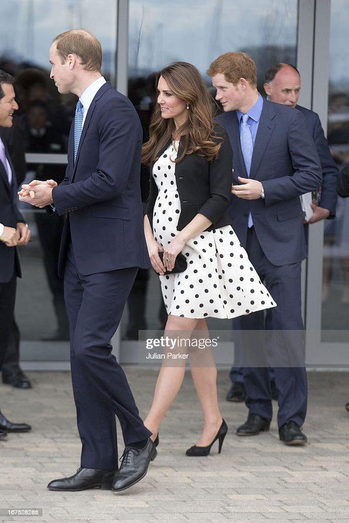 Prince William, Duke of Cambridge, Catherine, Duchess of Cambridge and Prince Harry leave after attending the Inauguration Of Warner Bros. Studios Leavesden on April 26, 2013 in Watford, England.