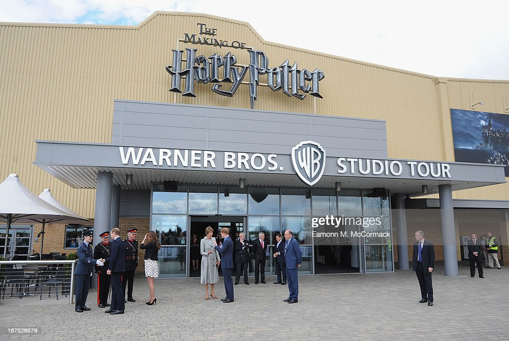 Prince William, Duke of Cambridge, Catherine, Duchess Of Cambridge and Prince Harry attend the Inauguration Of Warner Bros. Studios Leavesden on April 26, 2013 in Hertfordshire, England.