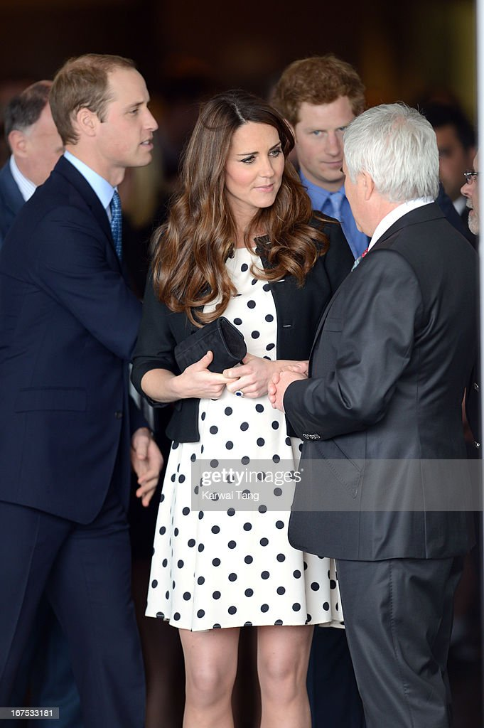 <a gi-track='captionPersonalityLinkClicked' href=/galleries/search?phrase=Prince+William&family=editorial&specificpeople=178205 ng-click='$event.stopPropagation()'>Prince William</a>, Duke of Cambridge, <a gi-track='captionPersonalityLinkClicked' href=/galleries/search?phrase=Catherine+-+Duchess+of+Cambridge&family=editorial&specificpeople=542588 ng-click='$event.stopPropagation()'>Catherine</a>, Duchess of Cambridge and <a gi-track='captionPersonalityLinkClicked' href=/galleries/search?phrase=Prince+Harry&family=editorial&specificpeople=178173 ng-click='$event.stopPropagation()'>Prince Harry</a> attend the inauguration of Warner Bros. Studio Tour London on April 26, 2013 in Watford, England.