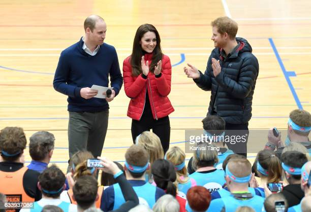 Prince William Duke of Cambridge Catherine Duchess of Cambridge and Prince Harry attend a training day for the Heads Together team for the London...