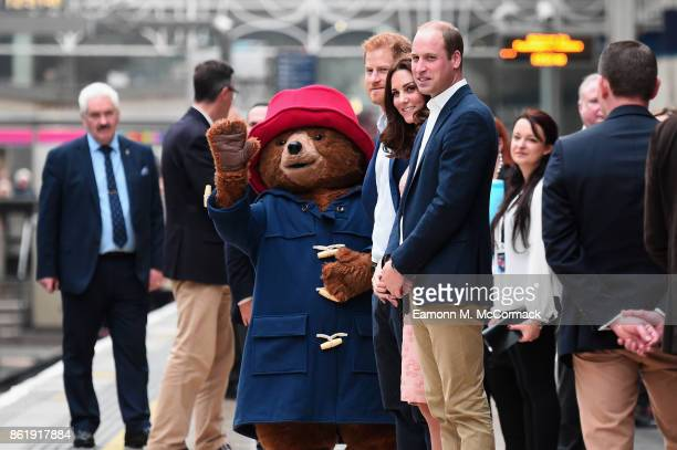 Prince William Duke of Cambridge Catherine Duchess of Cambridge Prince Harry and Paddington Bear attend the Charities Forum Event on board the...
