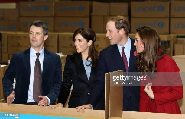 Prince William Duke of Cambridge Catherine Duchess of Cambridge Crown Princess Mary of Denmark and Frederik Crown Prince of Denmark visit the UNICEF...