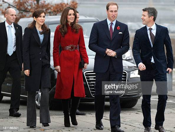 Prince William Duke of Cambridge Catherine Duchess of Cambridge Crown Prince Frederik of Denmark and Crown Princess Mary of Denmark visit the UNICEF...