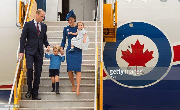 Prince William Duke of Cambridge Catherine Duchess of Cambridge Prince George of Cambridge and Princess Charlotte of Cambridge arrive at 443 Maritime...