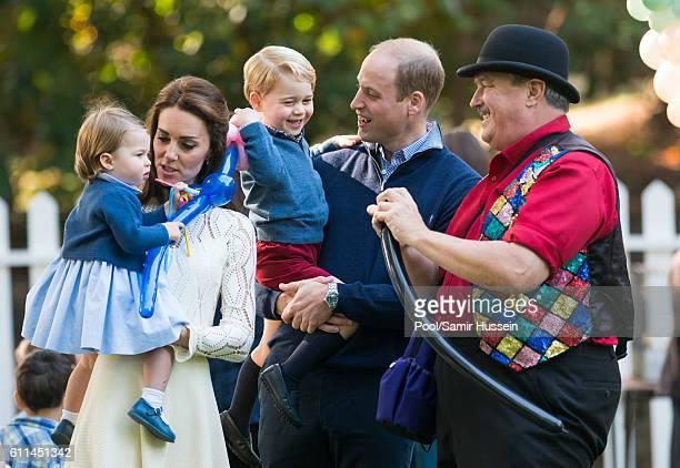 Prince William Duke of Cambridge Catherine Duchess of Cambridge Prince George of Cambridge and Princess Charlotte of Cambridge attend a children's...