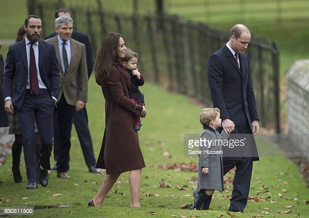 Prince William Duke of Cambridge Catherine Duchess of Cambridge Prince George of Cambridge Princess Charlotte of Cambridge Michael Middleton and...