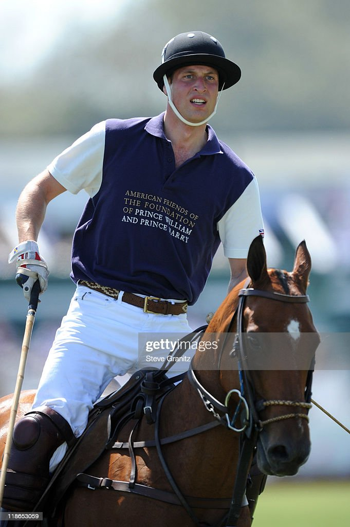 Prince William, Duke of Cambridge competes in the Foundation Polo Challenge held at the Santa Barbara Polo and Racquet Club on July 9, 2011 in Santa Barbara, California.