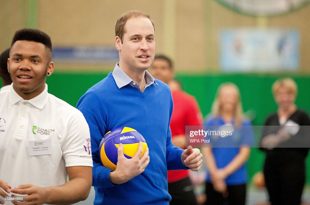 Prince William, Duke of Cambridge during a visit to a Coachcore project at Westway Sports Centre on December 4, 2013 in London, England.
