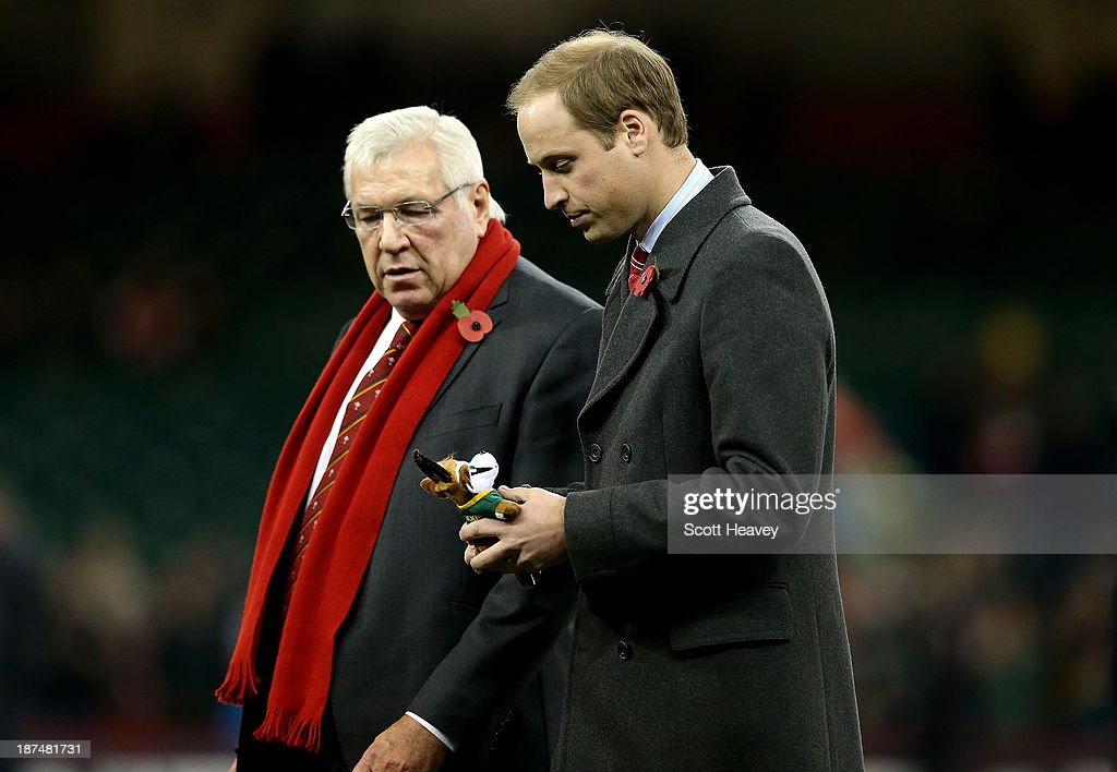 Prince William, Duke of Cambridge during an International between Wales and South Africa at Millennium Stadium on November 9, 2013 in Cardiff, Wales.