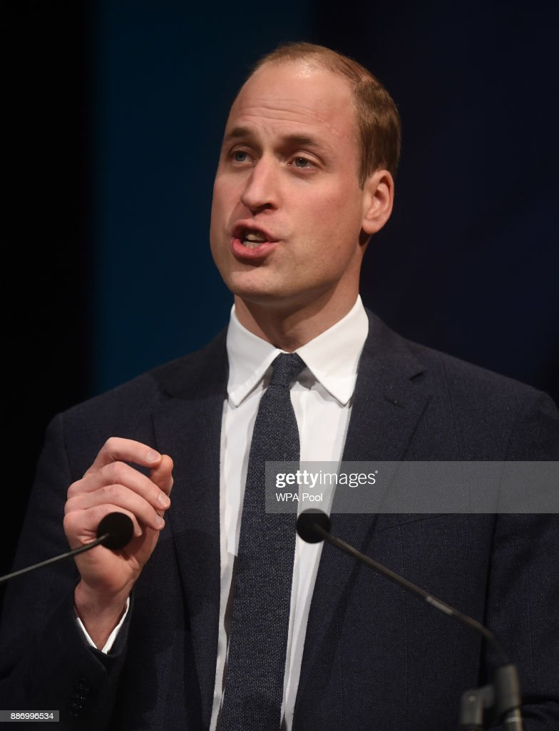 Prince William, Duke of Cambridge gives a keynote speech at the Children's Global Media Summit at the Manchester Central Convention on December 6, 2017 in Manchester, United Kingdom.