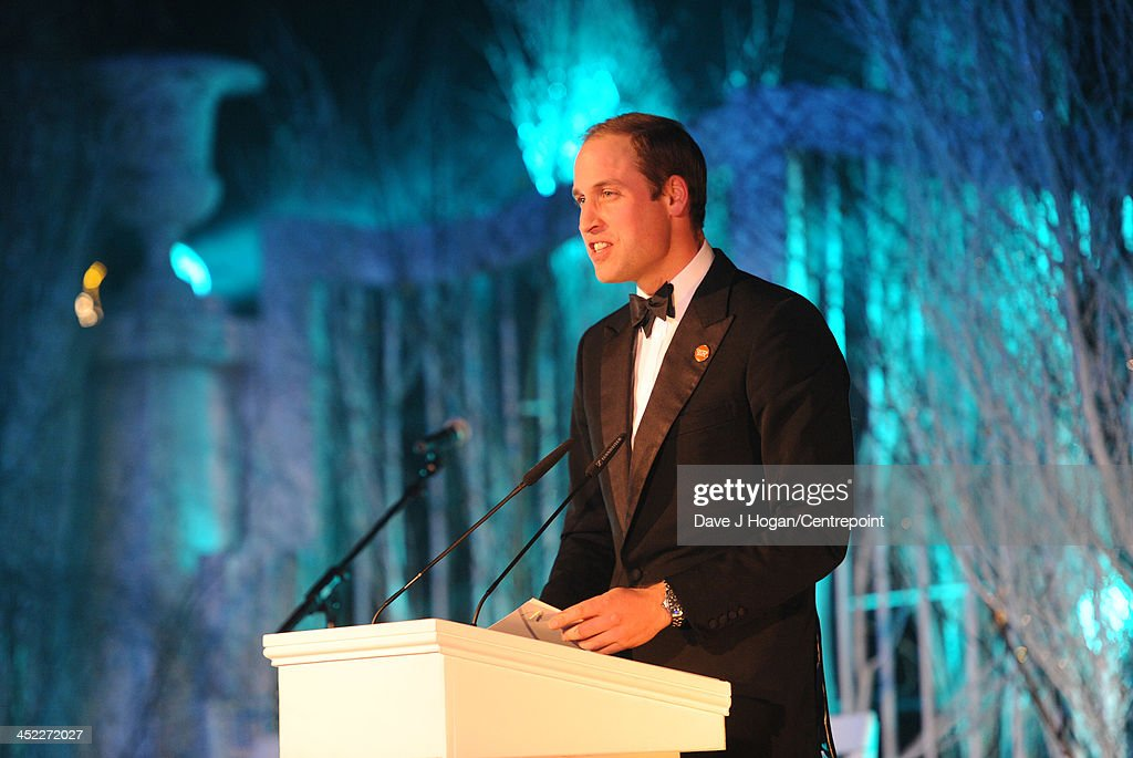 Prince William, Duke of Cambridge gives a speech the Winter Whites Gala In Aid Of Centrepoint on November 26, 2013 in London, England.