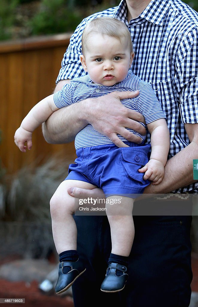 <a gi-track='captionPersonalityLinkClicked' href=/galleries/search?phrase=Prince+William&family=editorial&specificpeople=178205 ng-click='$event.stopPropagation()'>Prince William</a>, Duke of Cambridge holds <a gi-track='captionPersonalityLinkClicked' href=/galleries/search?phrase=Prince+George+of+Cambridge&family=editorial&specificpeople=11176510 ng-click='$event.stopPropagation()'>Prince George of Cambridge</a> as they look at a Bilby called George at Taronga Zoo on April 20, 2014 in Sydney, Australia. The Duke and Duchess of Cambridge are on a three-week tour of Australia and New Zealand, the first official trip overseas with their son, <a gi-track='captionPersonalityLinkClicked' href=/galleries/search?phrase=Prince+George+of+Cambridge&family=editorial&specificpeople=11176510 ng-click='$event.stopPropagation()'>Prince George of Cambridge</a>.