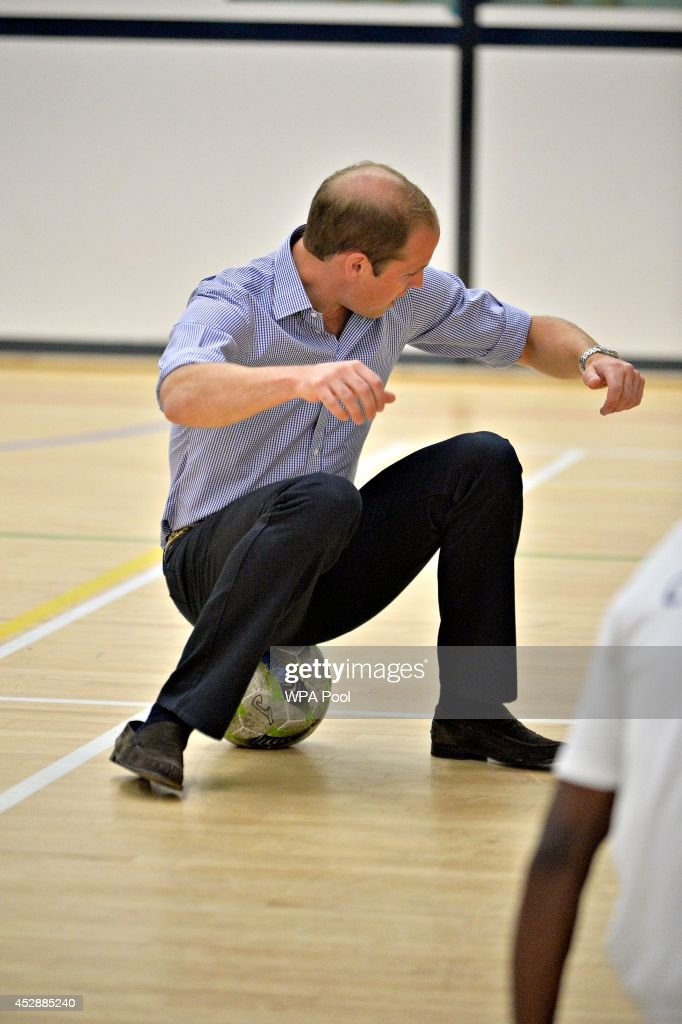 <a gi-track='captionPersonalityLinkClicked' href=/galleries/search?phrase=Prince+William&family=editorial&specificpeople=178205 ng-click='$event.stopPropagation()'>Prince William</a>, Duke of Cambridge is seen during a visit to the Coach Core project at Gorbals Leisure Centre on July 29, 2014 in Glasgow, Scotland.