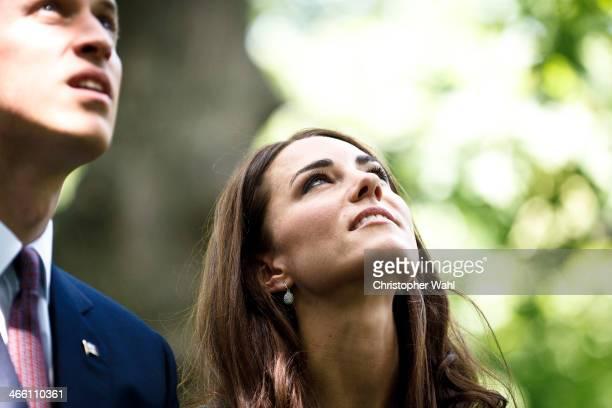 Prince William Duke of Cambridge Kate Middleton Duchess of Cambridge are photographed for Vanity Fair Magazine on July 13 2011 in Ottawa Ontario...