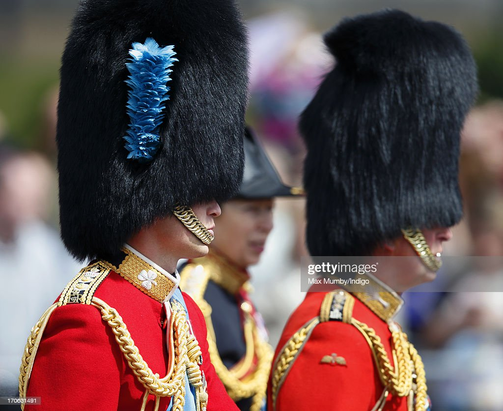 Prince William, Duke of Cambridge leaves Buckingham Palace on horseback during the annual Trooping the Colour Ceremony on June 15, 2013 in London, England. Today's ceremony which marks the Queen's official birthday will not be attended by Prince Philip the Duke of Edinburgh as he recuperates from abdominal surgery. This will also be The Duchess of Cambridge's last public engagement before her baby is due to be born next month.
