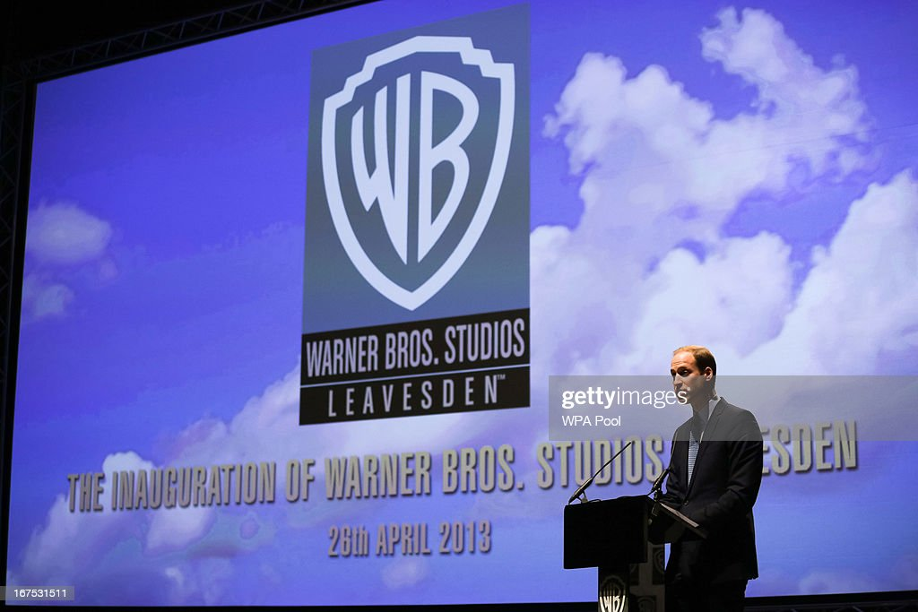 Prince William, Duke of Cambridge makes a speech at the Inauguration Of Warner Bros. Studios Leavesden on April 26, 2013 in London, England.