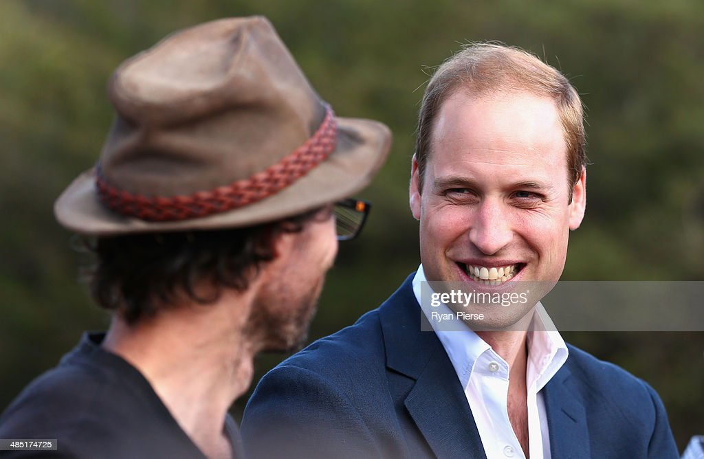 Prince William, Duke of Cambridge observes abseiling and team building exercises at Narrow Neck Lookout on April 17, 2014 in Katoomba, Australia. The Duke and Duchess of Cambridge are on a three-week tour of Australia and New Zealand, the first official trip overseas with their son, Prince George of Cambridge.