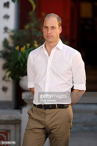 Prince William Duke of Cambridge on the first day of an official visit on November 16 2016 in Hanoi Vietnam The Duke of Cambridge is attending the...