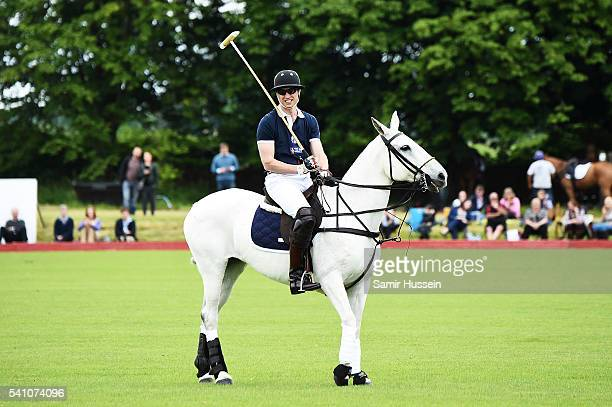 Prince William Duke of Cambridge plays against team Piaget during the Gloucestershire Festival of Polo at Beaufort Polo Club on June 18 2016 in...
