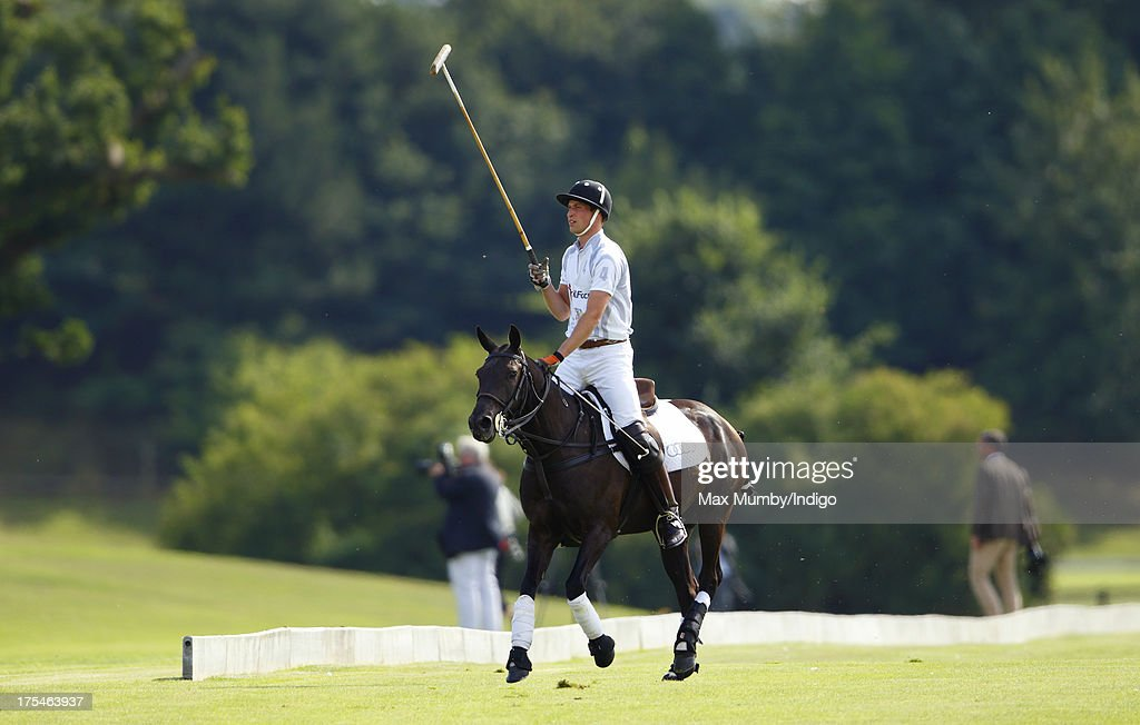 <a gi-track='captionPersonalityLinkClicked' href=/galleries/search?phrase=Prince+William&family=editorial&specificpeople=178205 ng-click='$event.stopPropagation()'>Prince William</a>, Duke of Cambridge plays in the Audi Polo Challenge at Coworth Park Polo Club on August 3, 2013 in Ascot, England.