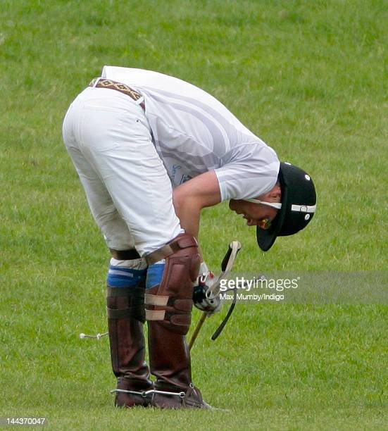 Prince William Duke of Cambridge plays in the Audi Polo Challenge charity polo match at Coworth Park Polo Club on May 13 2012 in Ascot England