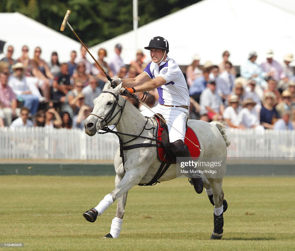 <a gi-track='captionPersonalityLinkClicked' href=/galleries/search?phrase=Prince+William&family=editorial&specificpeople=178205 ng-click='$event.stopPropagation()'>Prince William</a>, Duke of Cambridge plays in the Jerudong Trophy polo match at Cirencester Park Polo Club on July 14, 2013 in Cirencester, England.