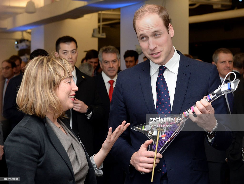 <a gi-track='captionPersonalityLinkClicked' href=/galleries/search?phrase=Prince+William&family=editorial&specificpeople=178205 ng-click='$event.stopPropagation()'>Prince William</a>, Duke of Cambridge plays on a Keytar guitar, a analog synthesizer, as he attends the Innovation is GREAT reception on December 9, 2014 in New York City.