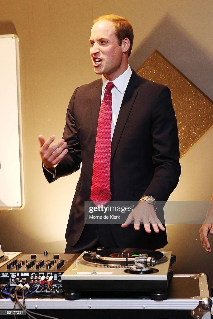 <a gi-track='captionPersonalityLinkClicked' href=/galleries/search?phrase=Prince+William&family=editorial&specificpeople=178205 ng-click='$event.stopPropagation()'>Prince William</a>, Duke of Cambridge plays on DJ decks at the youth community centre, The Northern Sound System in Elizabeth on April 23, 2014 in Adelaide, Australia. The Duke and Duchess of Cambridge are on a three-week tour of Australia and New Zealand, the first official trip overseas with their son, Prince George of Cambridge.
