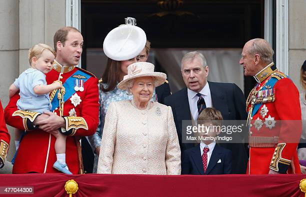 Prince William Duke of Cambridge Prince George of Cambridge Catherine Duchess of Cambridge Queen Elizabeth II Prince Andrew Duke of York James...