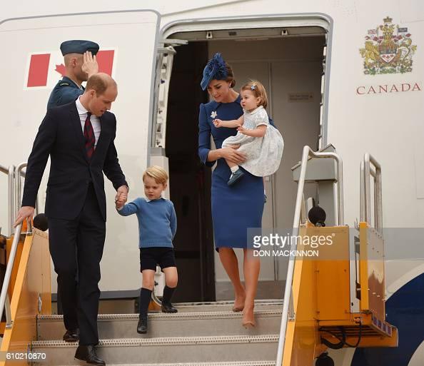 Prince William Duke of Cambridge Prince George of Cambridge Catherine Duchess of Cambridge and Princess Charlotte of Cambridge arrive at 443 Maritime...