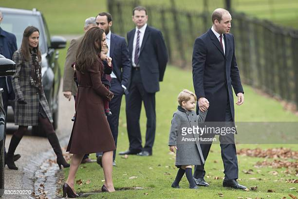 Prince William Duke of Cambridge Prince George of Cambridge Catherine Duchess of Cambridge Princess Charlotte of Cambridge James Middleton and Pippa...