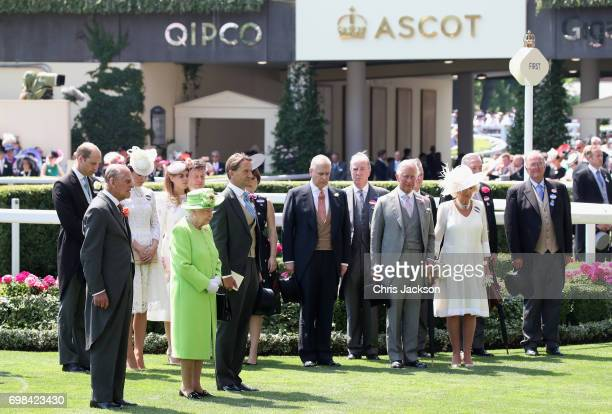 Prince William Duke of Cambridge Prince Philip Duke of Edinburgh Catherine Duchess of Cambridge Princess Beatrice of York Queen Elizabeth II guests...