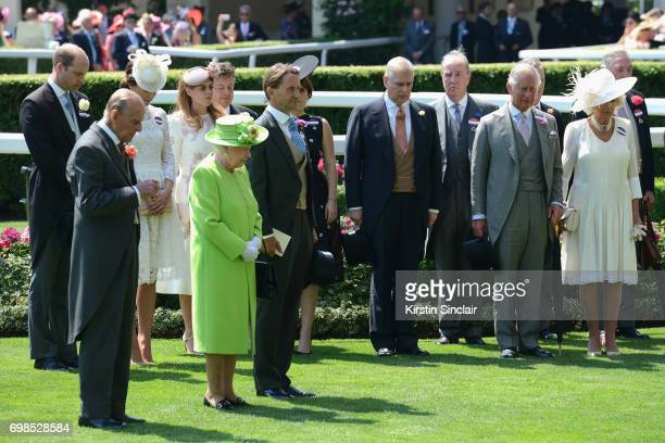 Prince William Duke of Cambridge Prince Philip Duke of Edinburgh Catherine Duchess of Cambridge Princess Beatrice of York Queen Elizabeth II John...