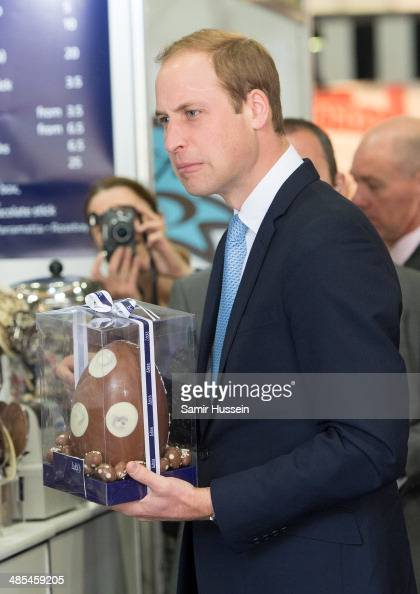 Prince William Duke of Cambridge receives an easter egg as he visits the Sydney Royal Easter Show on April 18 2014 in Sydney Australia The Duke and...