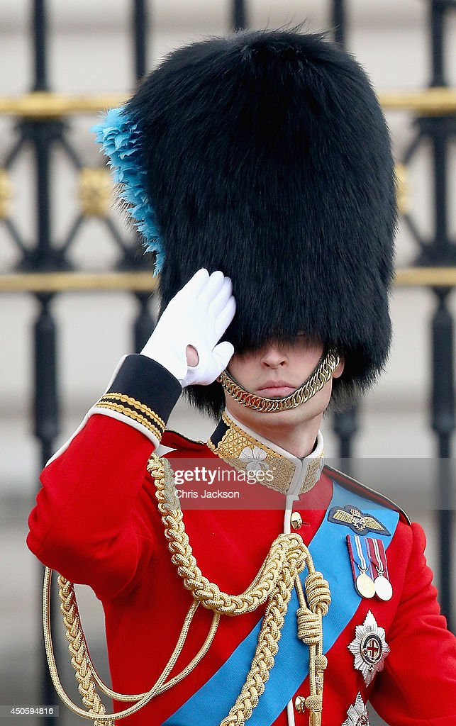 Prince William, Duke of Cambridge salutes during Trooping the Colour - Queen Elizabeth II's Birthday Parade, at The Royal Horseguards on June 14, 2014 in London, England.
