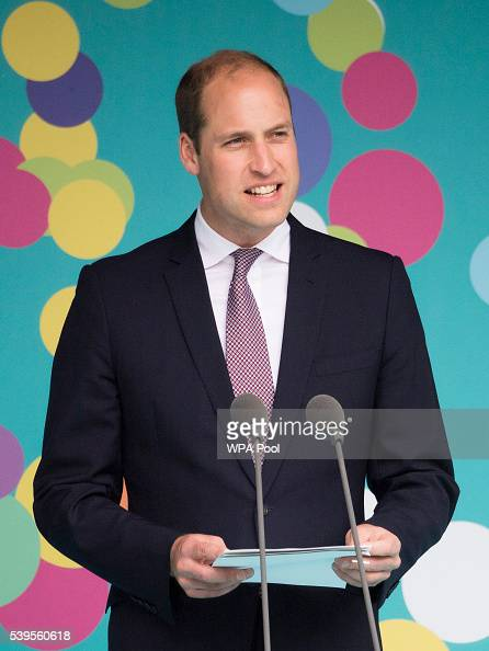 Prince William Duke of Cambridge speaks during 'The Patron's Lunch' celebrations for The Queen's 90th birthday on The Mall on June 12 2016 in London...