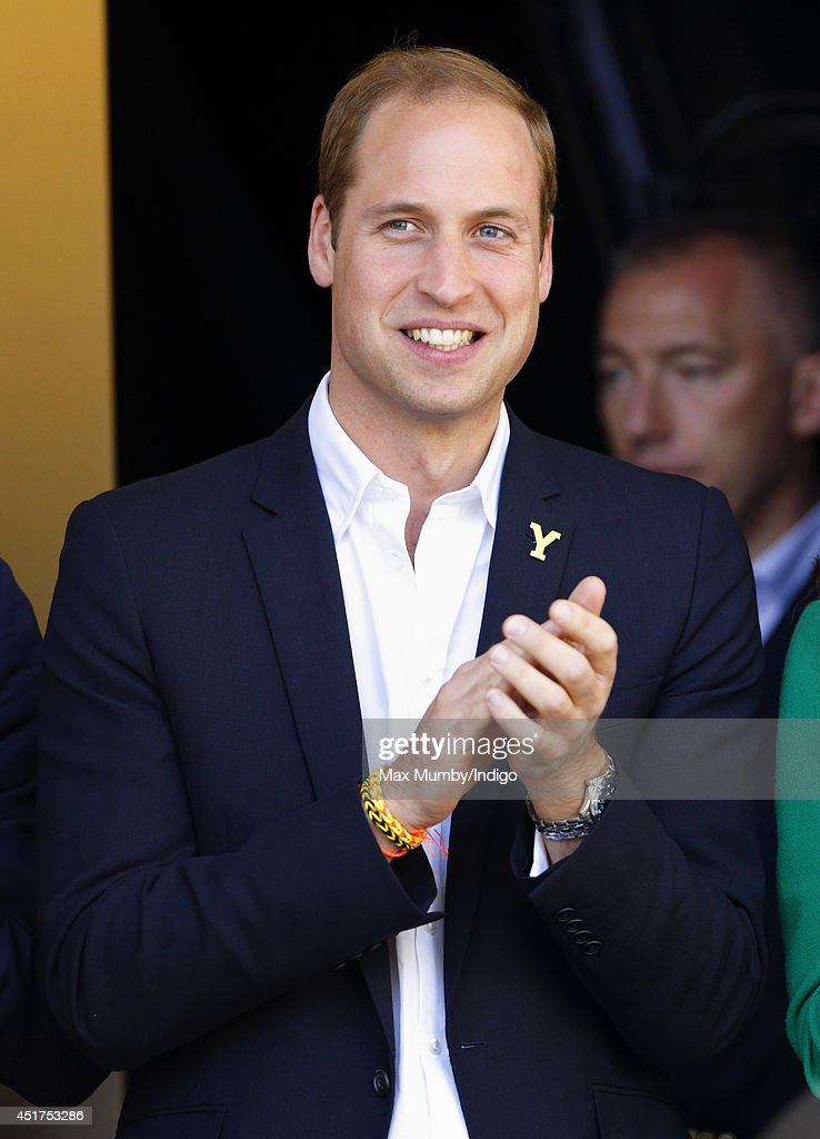 <a gi-track='captionPersonalityLinkClicked' href=/galleries/search?phrase=Prince+William&family=editorial&specificpeople=178205 ng-click='$event.stopPropagation()'>Prince William</a>, Duke of Cambridge stands on the podium at the finish of stage one of the Tour de France on July 5, 2014 in Harrogate, England.