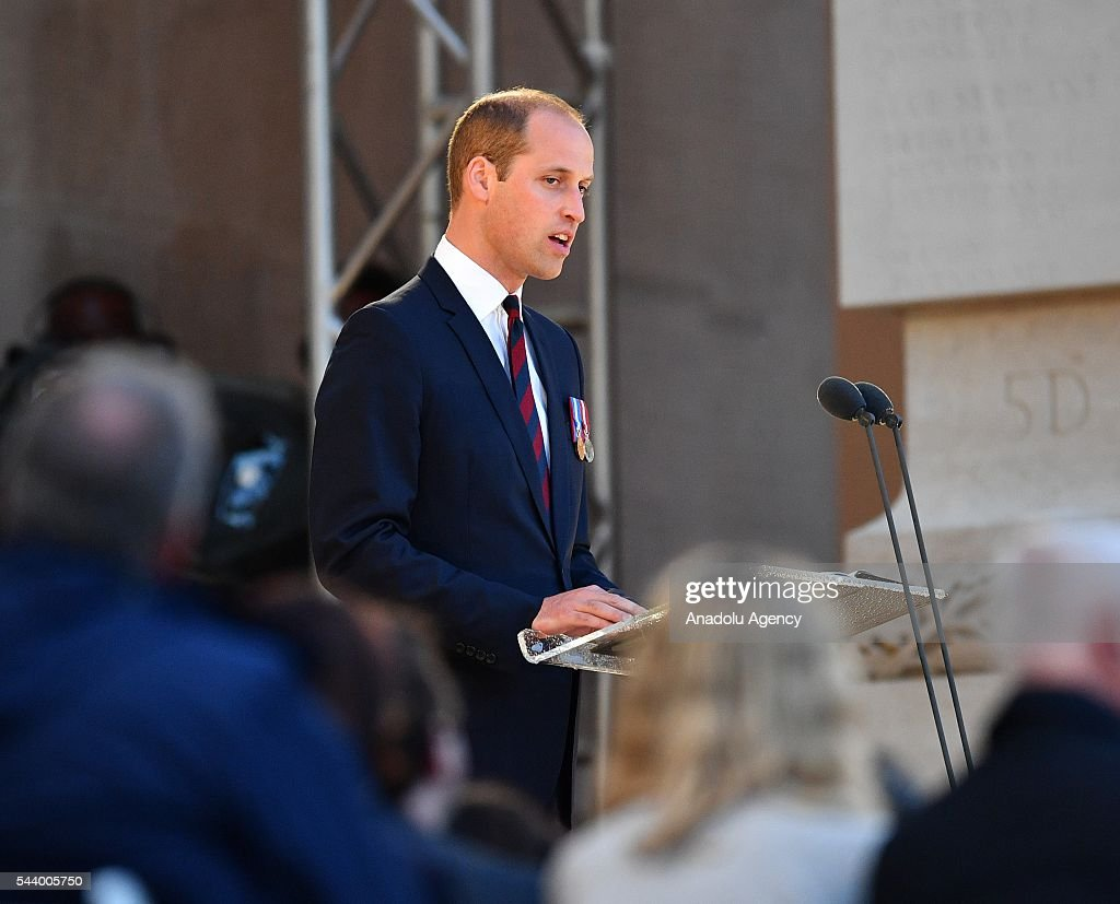 Prince William, Duke of Cambridge takes part in a vigil at Thiepval Memorial to the Missing of the Somme during Somme Centenary Commemorations on June 30, 2016 in Thiepval, France.