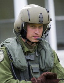 Prince William Duke of Cambridge takes part in helicopter manouvres called 'water birding' across Dalvay lake on July 4 2011 in Charlottetown Canada...