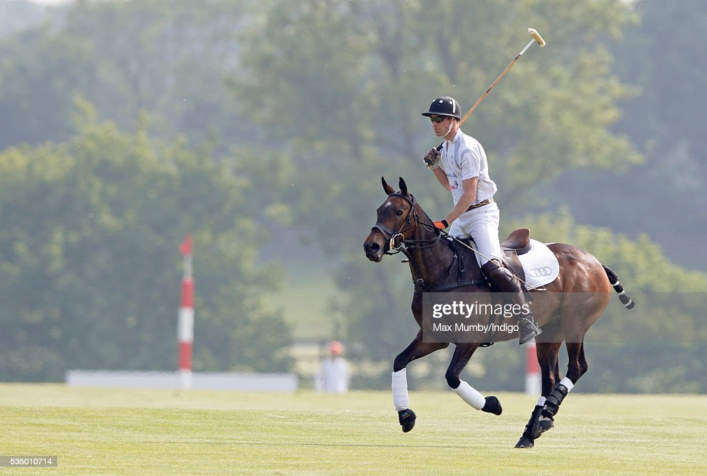 <a gi-track='captionPersonalityLinkClicked' href=/galleries/search?phrase=Prince+William&family=editorial&specificpeople=178205 ng-click='$event.stopPropagation()'>Prince William</a>, Duke of Cambridge takes part in the Audi Polo Challenge at Coworth Park Polo Club on May 28, 2016 in Ascot, England.