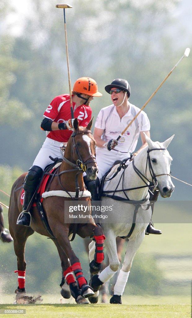 <a gi-track='captionPersonalityLinkClicked' href=/galleries/search?phrase=Prince+William&family=editorial&specificpeople=178205 ng-click='$event.stopPropagation()'>Prince William</a>, Duke of Cambridge (r) takes part in the Audi Polo Challenge at Coworth Park Polo Club on May 29, 2016 in Ascot, England.