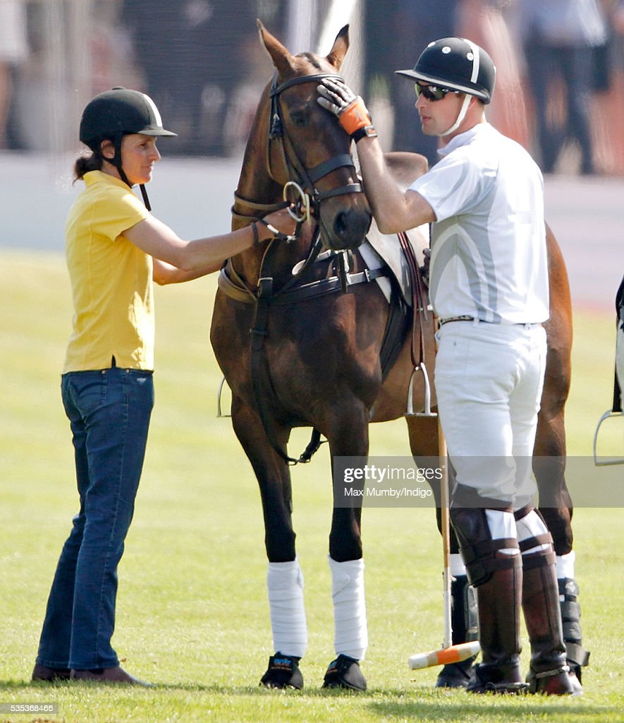 Prince William, Duke of Cambridge takes part in the Audi Polo Challenge at Coworth Park Polo Club on May 29, 2016 in Ascot, England.