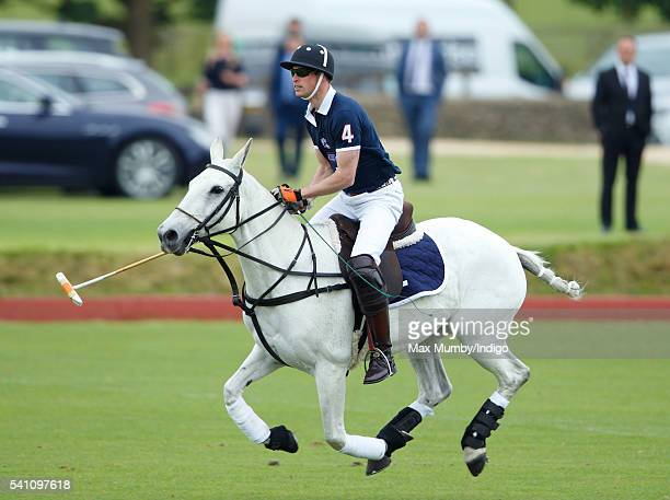 Prince William Duke of Cambridge takes part in the Maserati Royal Charity Polo Trophy Match on June 18 2016 in Tetbury England