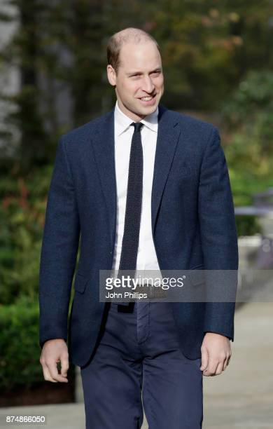 Prince William Duke of Cambridge visits Google YouTube to launch a National Action Plan to tackle cyberbullying on November 16 2017 in London England