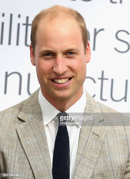 Prince William Duke of Cambridge visits Hayward Tyler on August 24 2016 in Luton England