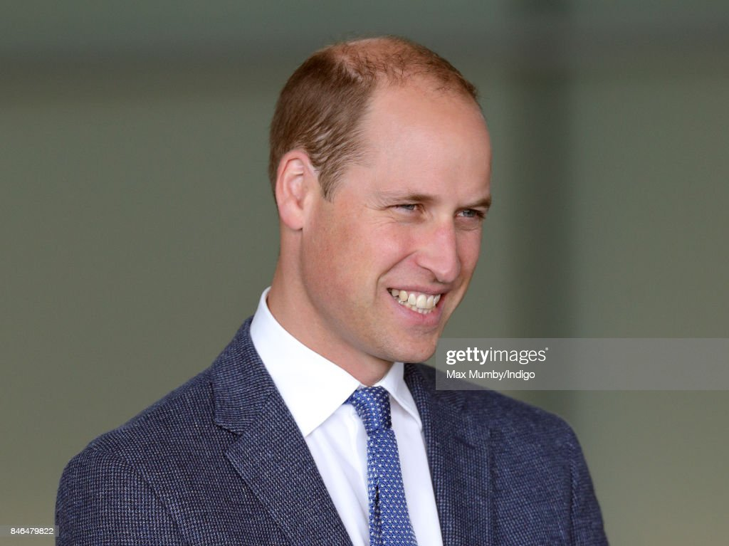 Prince William, Duke of Cambridge visits McLaren Automotive at the McLaren Technology Centre on September 12, 2017 in Woking, England.