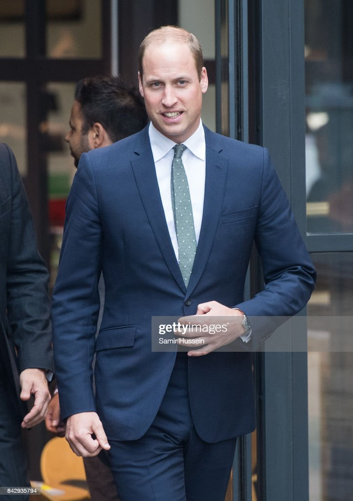 Prince William, Duke of Cambridge visits the newly established Royal Foundation Support4Grenfell community hub on September 5, 2017 in London, England. The hub provides bereavement and emotional support for the Grenfell Tower community.