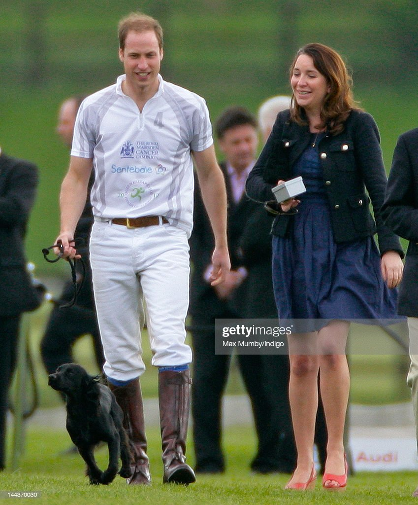 <a gi-track='captionPersonalityLinkClicked' href=/galleries/search?phrase=Prince+William&family=editorial&specificpeople=178205 ng-click='$event.stopPropagation()'>Prince William</a>, Duke of Cambridge with his dog Lupo and Rebecca Deacon (The Cambridge's Deputy Private Secretary) attend the Audi Polo Challenge charity polo match, in which <a gi-track='captionPersonalityLinkClicked' href=/galleries/search?phrase=Prince+William&family=editorial&specificpeople=178205 ng-click='$event.stopPropagation()'>Prince William</a>, Duke of Cambridge and Prince Harry competed, at Coworth Park Polo Club on May 13, 2012 in Ascot, England.