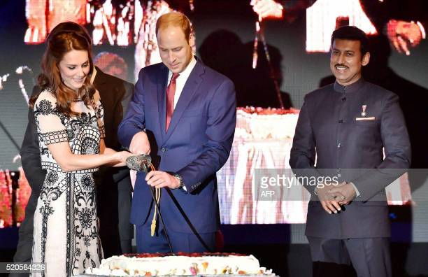 Prince William Duke of Cambridgeand Catherine Duchess of Cambridgeare watched by India's Minister for Information and Broadcasting Rajyavardhan Singh...